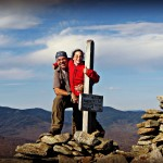 Dan and Janelle celebrate atop North Baldface Mountain.